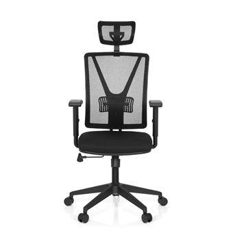 Chaise De Bureau CARLOW PRO Tissu Maille Noir Hjh OFFICE