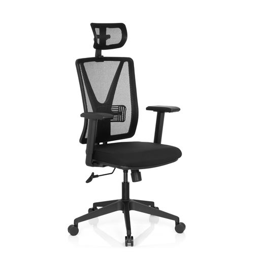 hjh PRO OFFICE de bureau chaise noir bureau maille Chaise CARLOW tissu bY7vf6Igy