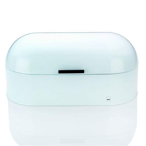 Kela 11165 boîte à pain, métal brillant, 44 x 21,5 cm, hauteur 21 cm, coloris blanc, 'Frisco'