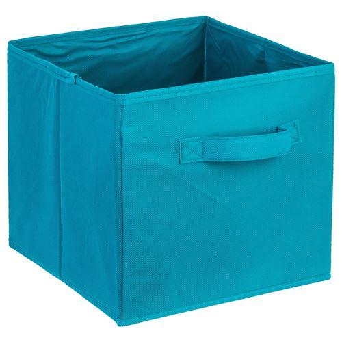 Boîte de rangement pour meuble avec poignée - Bleu lagon