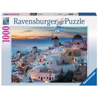 Avond in Santorini puzzel - 1000 stukjes