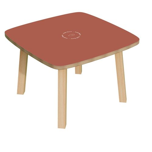 Table basse plateau rouge easyOffice Rouge