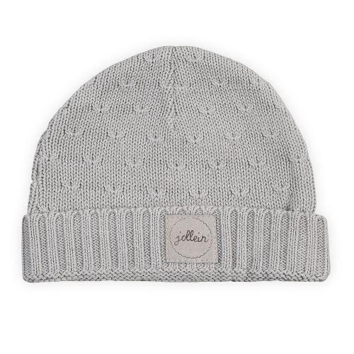 Bonnet pour bébé 2 à 9 Mois Soft Knit - Gris
