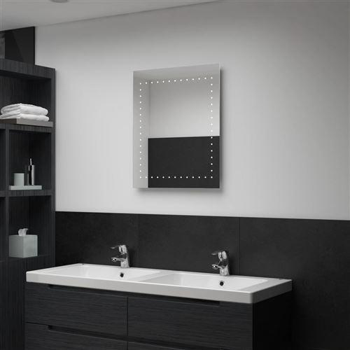 Miroir mural à LED pour salle de bains 50 x 60 cm (144711)