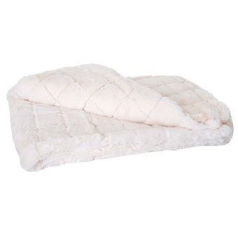 couverture carreau couvre lit couverture de canap aspect toison 150x120cm achat prix fnac - Couverture Lit