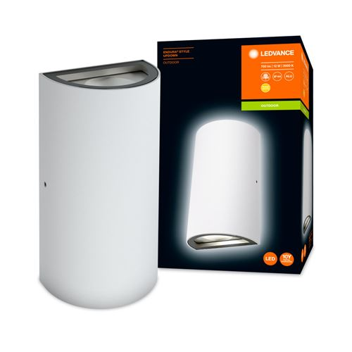 pour mur - ENDURA® STYLE UPDOWN / 11 - 50 W - 220…240 V - Angle de rayonnement: 110° - Warm White - 3000 K - Matériau: aluminium - IP44}