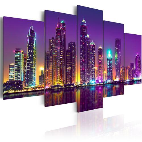 Tableau - purple nights - artgeist - 100x50