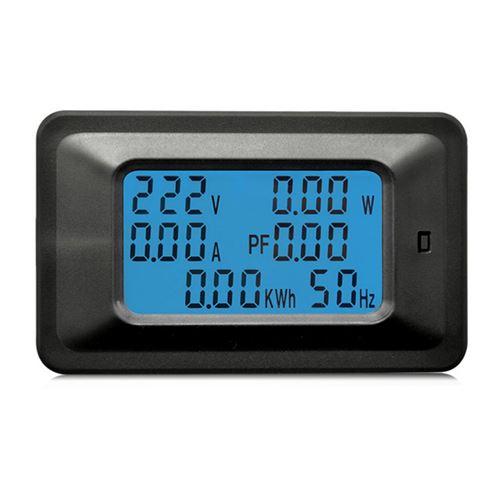 100A panneau numérique LCD alimentation CA wattmètre Moniteur de tension KWh Voltmètre Ampèremètre w