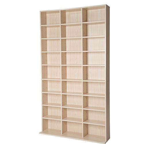 Armoire étagère rangement CD / DVD meuble de rangement pour 1 000 CDs bois