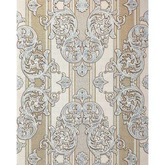 Papier Peint Baroque Edem 580 30 Texture Aspect Textile Metalliques