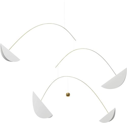 Flensted Mobiles Life and Thread 205cm blanc et or
