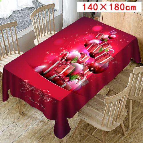 Nappe de Noël Imprimer Rectangle Table Cover Holiday Party Home Decor_Kiliaadk437