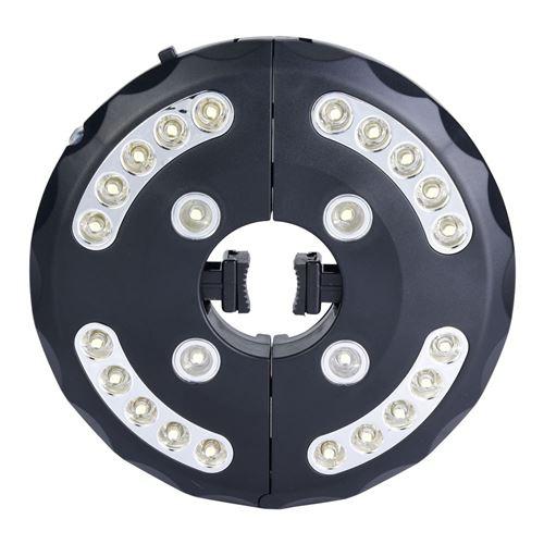 Lampe pour parasol Patio Umbrella LED Noir