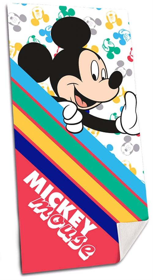 Mickey serviette Mickeyde plage Mouse 140 cm polyester