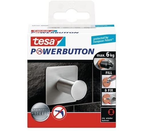Tesa Powerbutton Classic Crochet simple Carré 6 kg