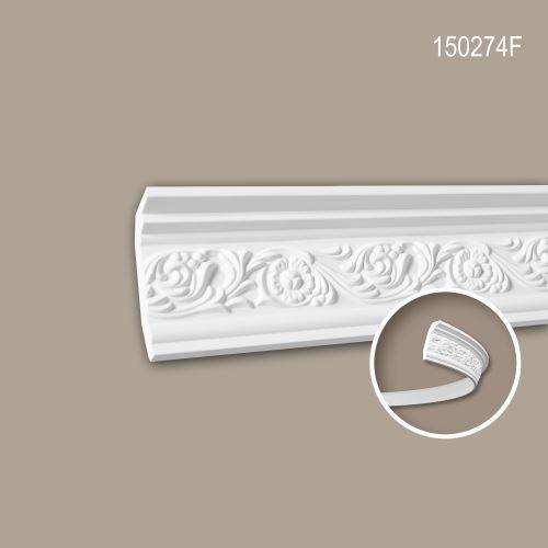 Corniche 150274F Profhome Moulure décorative flexible style Rococo-Baroque blanc 2 m