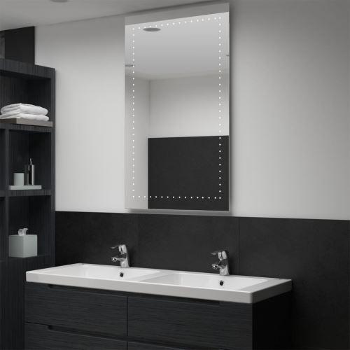 Miroir mural à LED pour salle de bains 60 x 100 cm (144713)