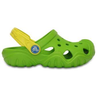 Crocs Volt Swiftwater En Enfants Sandales Chaussures Vert Sabots AA8Bq