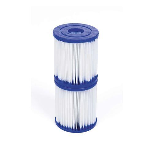 Alice's Garden-Lot de 2 cartouches filtrantes type 1 pour pompe de piscine - 7,8x7,8cm compatibles avec piscines bestway leman, opalite, connemara, diamant, jade et