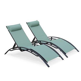 Bain De Soleil En Textilene. Cool Set De Bains De Soleil Oxalide En ...