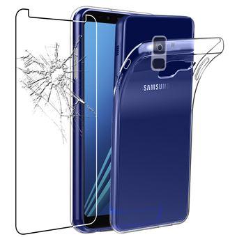 ebestStar - Coque Samsung Galaxy A8 2018 A530F Etui Housse Silicone TPU Souple Anti-Choc ULTRA FINE INVISIBLE, Transparent Film protection écran en ...