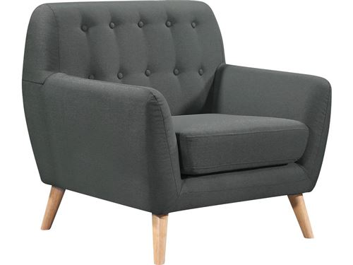 fauteuil tissu cody - 90 x 77 x 84 cm - gris