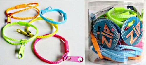 Un Bracelet Fermeture Eclair Zip 5 Couleurs Accessoire De Mode