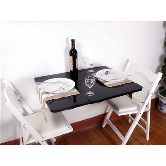 Sobuy Fwt01 Sch Table Murale Rabattable En Bois L75cm P60cm Noir