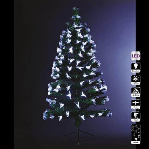 Sapin vert lumineux 90 cm fibre optique