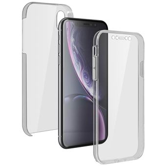 Coque Apple iPhone XR Protection 360° Silicone Polycarbonate Transparent