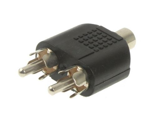 (#27) RCA Female to 2 RCA Male Adapter