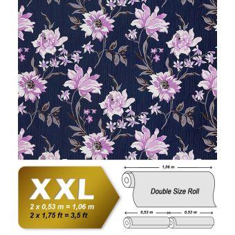 Papier Peint Intisse De Luxe Motif Floral En Relief Edem 900 14