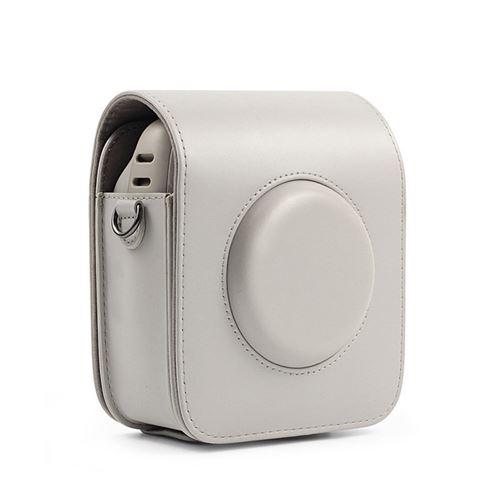 Étui de protection en cuir PU pour Fujifilm Instax Square 20 - Beige