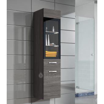 Armoire de rangement Rio Hauteur : 131 cm Bodega (gris) - Meuble de  rangement haut placard meuble de salle de bain