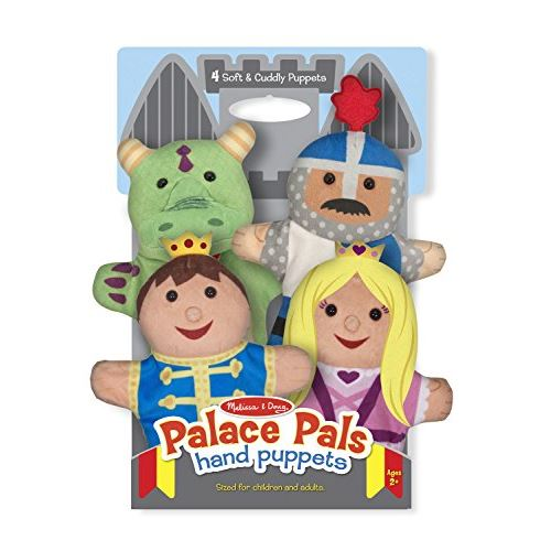 Melissa Doug Palace Pals Hand Puppets (Set of 4) - Prince, Princess, Knight, and Dragon