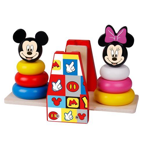 Jouet en bois : Pyramide à empiler - Balance Disney Mickey