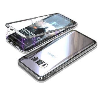 Coque pour Samsung Galaxy S8 - Coque Magnétique Argent Housse Etui ...