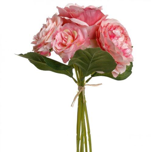 Bouquet de Fleurs 35cm Rose Pâle