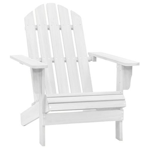 vidaXL Chaise de jardin Bois Blanc