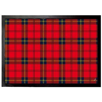 Dessins Paillasson Essuie Pieds Dessin Carreaux Tartan écossais Rouge 50x70 Cm