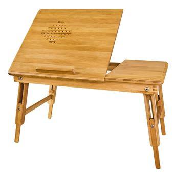 Pliable Pc double Sobuy® Bambou Table De Chevet En Pour Plateaux OXP8n0kw