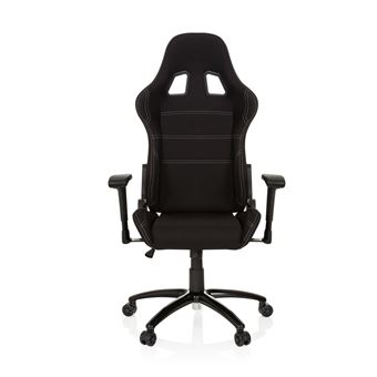 Chaise Gaming Fauteuil Gamer Game Force Tissu Noir Hjh Office