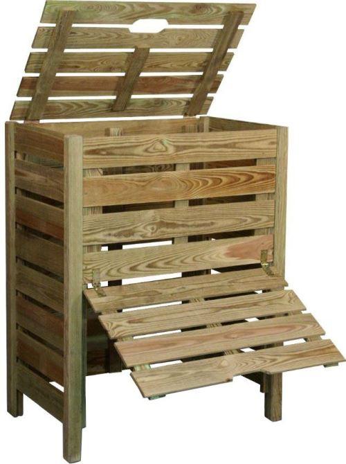 Jardipolys - Composteur en bois avec trappe 400L