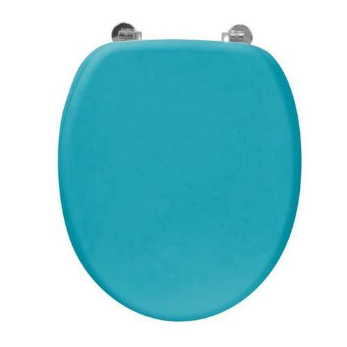 9 82 Sur Frandis Abattant Wc Rubber En Bois Bleu Installations Salles De Bain Achat Prix Fnac