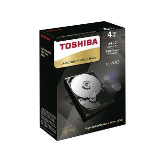 """Toshiba N300 - Vaste schijf - 4 TB - intern - 3.5"""" - SATA 6Gb/s - 7200 tpm -buffer: 128 MB"""