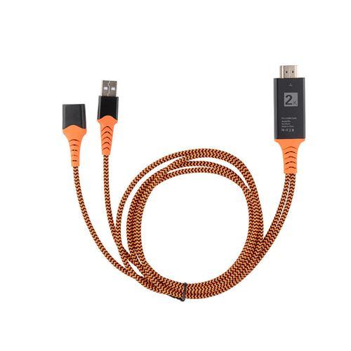 Type C Pour Hdmi Av Hdtv Tv Par Câble Adaptateur Pour Samsung Galaxy / Iphone Series Pc Marron MK807