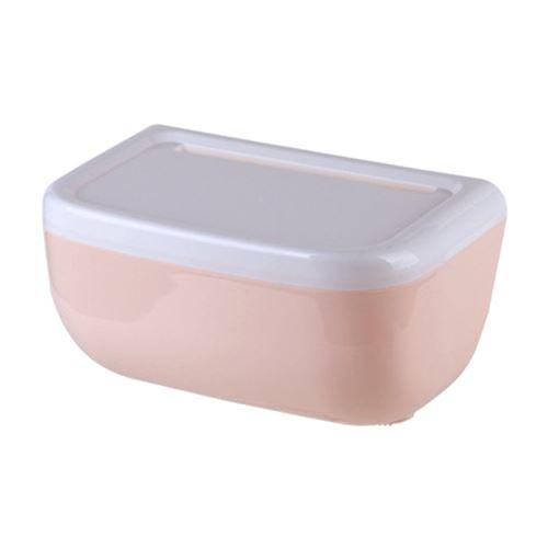 Decdeal Boîte à mouchoirs Étui en papier en rouleau Distributeur de papier toilette Toilette Salle de bains Fixé au porte-serviette en papier