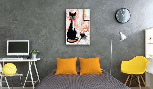 60x90 Tableau Chats Animaux Inedit The True Gentleman