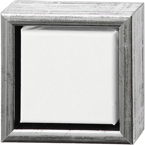 ArtistLine toile avec cadre 14 x 14 cm argenté