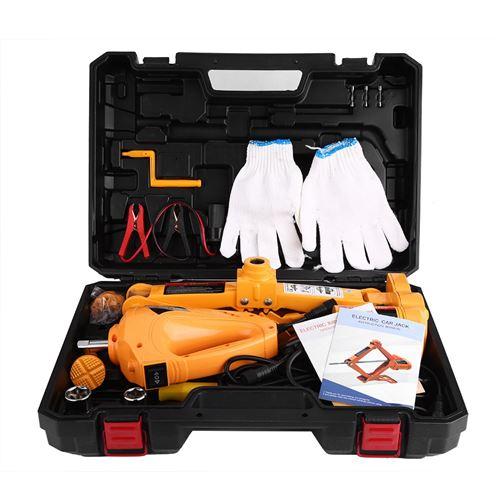 12 V 3 Tonnes 125-420mm Cric Auto Voiture Jack de Levage Équipement d'Urgence